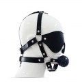 Face Harness with Eye Mask And Mouth Gag