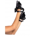 Cropped Satin Ruffle Gloves