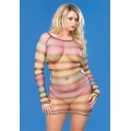 Rainbow Striped Mini Dress QS