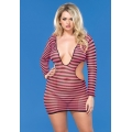Cut Out Fishnet Mini Dress QS
