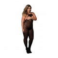 Halter Opaque Crotchless Open Cup Bodystocking