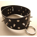 Leather Black/Metal Collar with Nails
